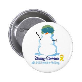 Snowy Air Force Pin