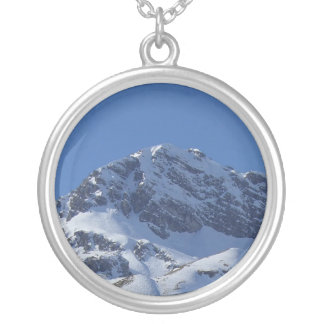 Snowy Alps in Austria Souvenir Silver Plated Necklace