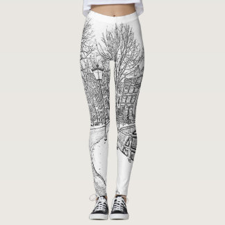 Snowy Amsterdam Netherlands leggings