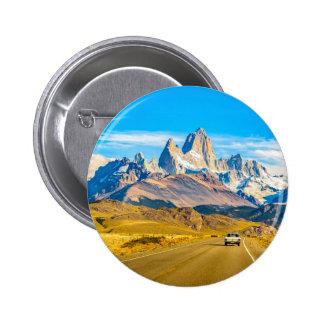 Snowy Andes Mountains, El Chalten, Argentina 6 Cm Round Badge