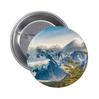 Snowy Andes Mountains, El Chalten Argentina 6 Cm Round Badge