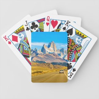 Snowy Andes Mountains, El Chalten, Argentina Bicycle Playing Cards