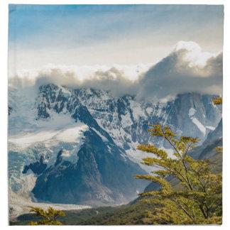 Snowy Andes Mountains, El Chalten Argentina Napkin