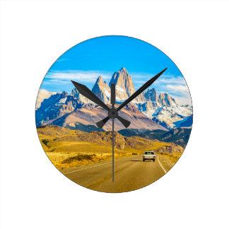 Snowy Andes Mountains, El Chalten, Argentina Round Clock
