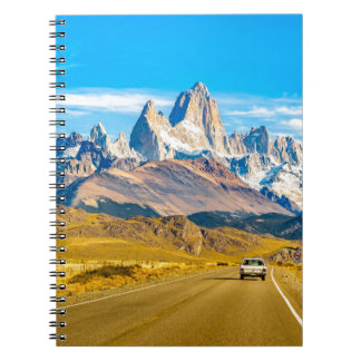 Snowy Andes Mountains, El Chalten, Argentina Spiral Notebook