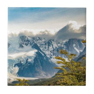 Snowy Andes Mountains, El Chalten Argentina Tile