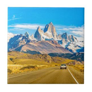 Snowy Andes Mountains, El Chalten, Argentina Tile