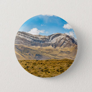 Snowy Andes Mountains Patagonia Argentina 6 Cm Round Badge