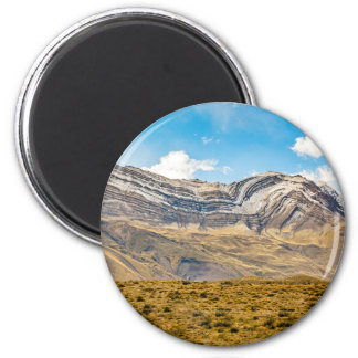Snowy Andes Mountains Patagonia Argentina 6 Cm Round Magnet