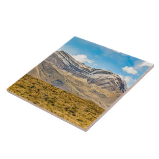 Snowy Andes Mountains Patagonia Argentina Ceramic Tile