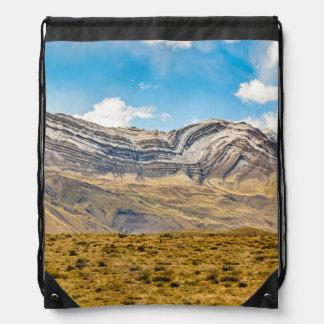Snowy Andes Mountains Patagonia Argentina Drawstring Bag