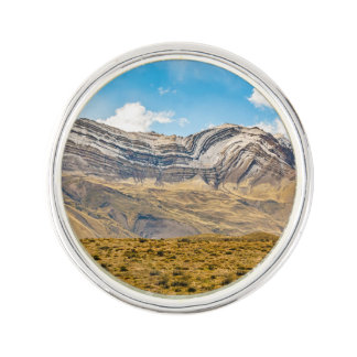 Snowy Andes Mountains Patagonia Argentina Lapel Pin