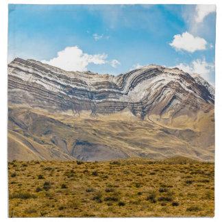 Snowy Andes Mountains Patagonia Argentina Napkin