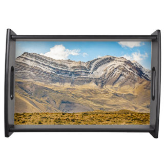 Snowy Andes Mountains Patagonia Argentina Serving Tray