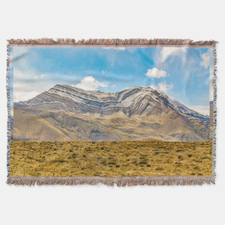 Snowy Andes Mountains Patagonia Argentina Throw Blanket
