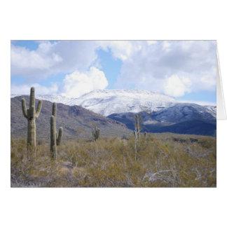Snowy Arizona Day Greeting Card