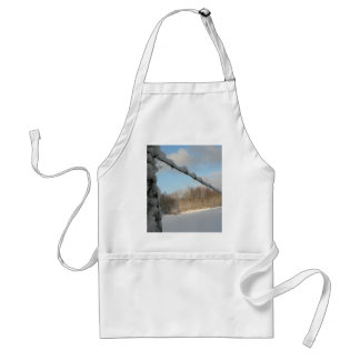 Snowy Barbwire Fence Apron