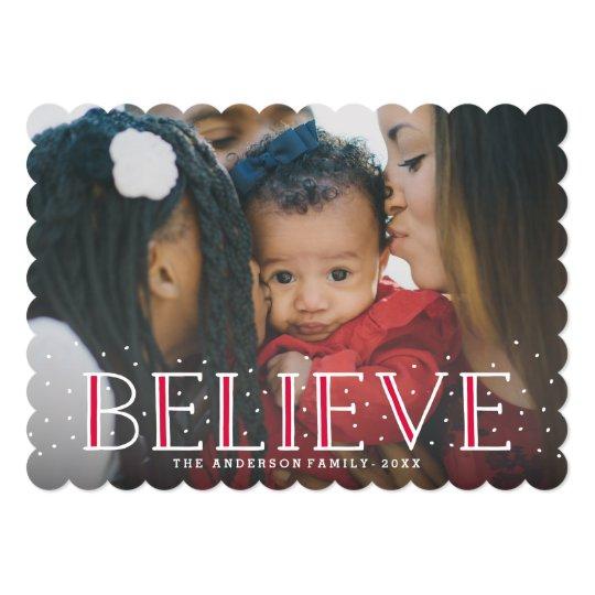 Snowy Believe | Holiday Photo Card