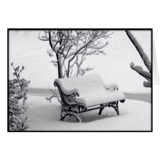 Snowy Bench Christmas Card