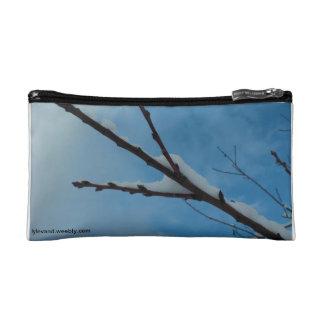 Snowy Branch Makeup Bag