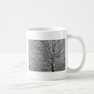 Snowy branches coffee mug