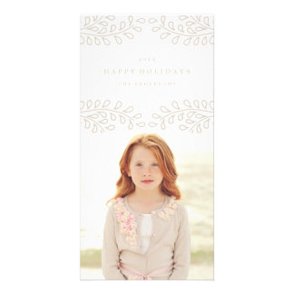 Snowy Branches Collection Personalised Photo Card