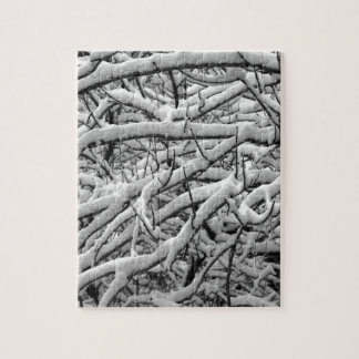 Snowy branches jigsaw puzzle