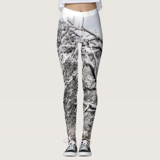 Snowy branches Leggings