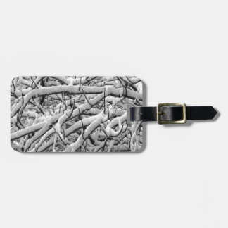 Snowy branches luggage tag