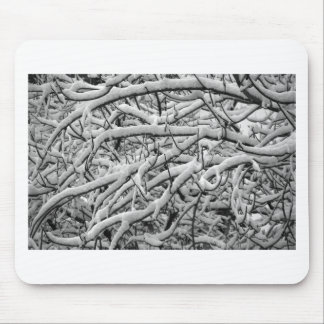 Snowy branches mouse pad