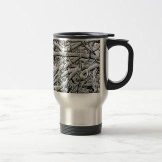 Snowy branches travel mug
