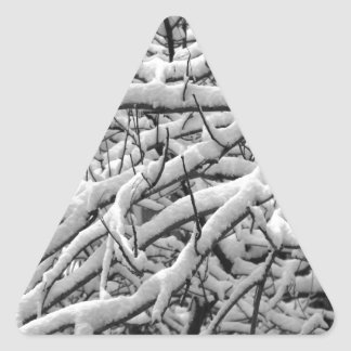 Snowy branches triangle sticker
