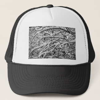 Snowy branches trucker hat