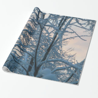 Snowy Branches Wrapping Paper