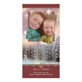 Snowy Buon Natale - Italian Photo Christmas Card Photo Card Template