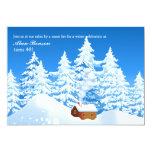 Snowy Cabin Invitation 13 Cm X 18 Cm Invitation Card