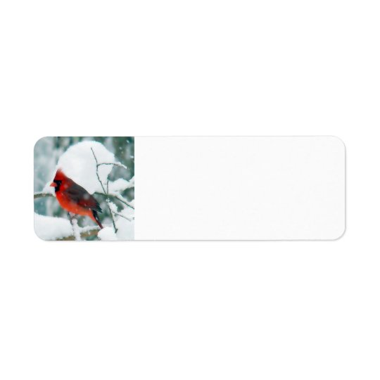 Snowy Cardinal Return Address Label
