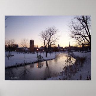 Snowy Carroll Creek - 2007 Print