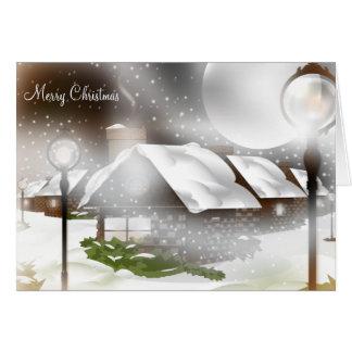 Snowy Christmas Night Greeting/Note Card