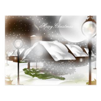 Snowy Christmas Night Postcard