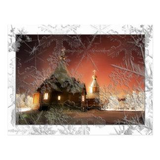 Snowy Christmas Postcard