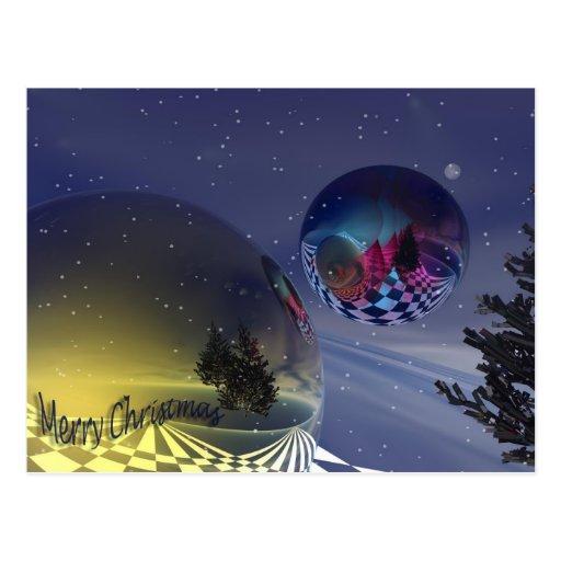Snowy Christmas Postcards