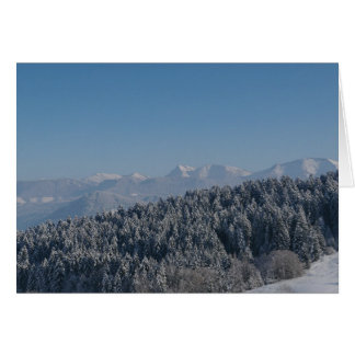 Snowy cold winter landscape 11 greeting card