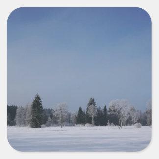 Snowy cold winter landscape 12 stickers