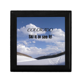 Snowy Colorado Ski Slopes Gift Box