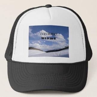 Snowy Colorado Ski Slopes Trucker Hat