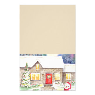 Snowy Cottage Stationery