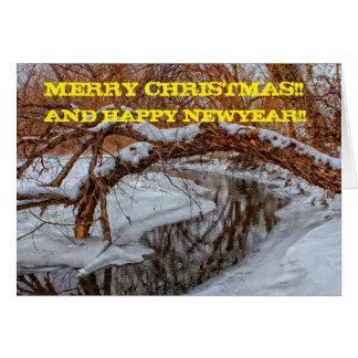 Snowy Creek Christmas Card Greeting Card