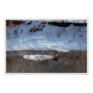 Snowy Day at Pennypack Creek Poster