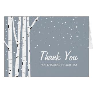 Snowy Day Birch Trees Card
